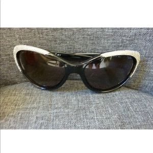 Authentic Valentino Black Crystal Sunglasses: